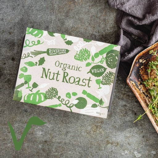 Vegetarian Christmas Dinner Box from Riverford - Vegan Nut Roast