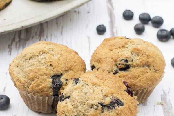 Blueberry Lemon Muffins [vegan] by The Flexitarian - Annabelle Randles ©