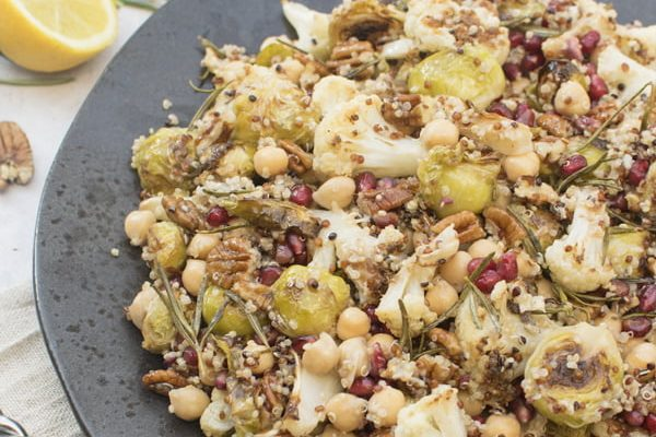 Roasted Brussels Sprouts & Cauliflower Salad [vegan] [gluten free] by The Flexitarian - Annabelle Randles ©