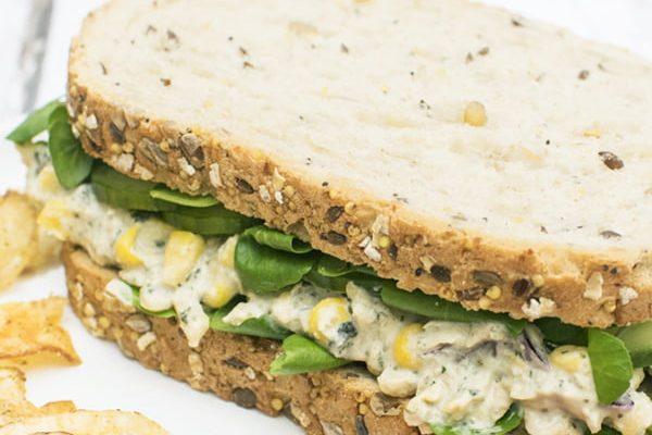 Vegan Tuna Sandwich © 2019 - Annabelle Randles The Flexitarian Le Flexitarien
