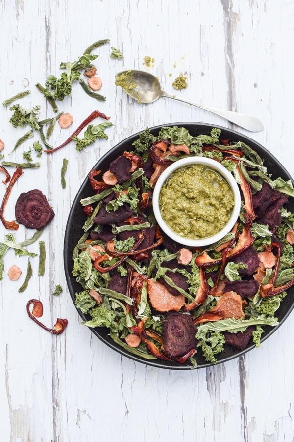 Vegetable Crisps BioChef Arizona Sol Food Dehydrator © 2019 - Annabelle Randles : The Flexitarian : www.theflexitarian.co.uk