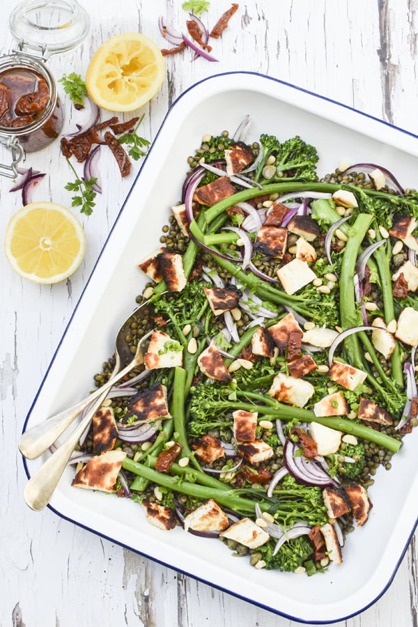 Broccoli, Halloumi & Lentil Salad [vegetarian] © 2019 - Annabelle Randles : The Flexitarian : www.theflexitarian.co.uk
