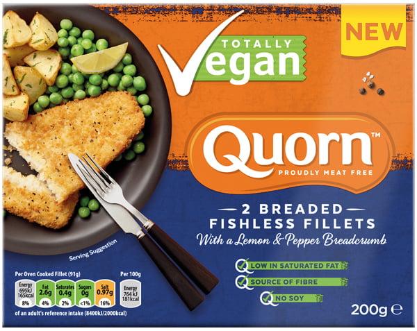 Quorn launches Vegan Fishless Fillets range Lemon_Pepper_Fishless