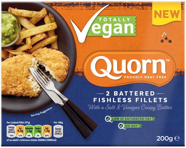 Quorn launches Vegan Fishless Fillets range Salt and Vinegar