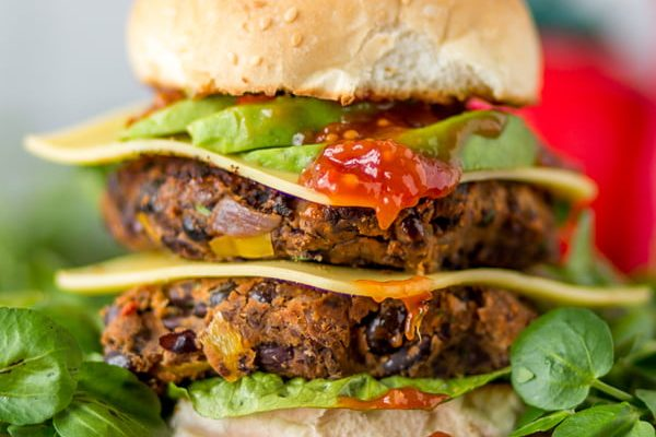Black Bean & Watercress Burger [vegan] by Love Watercress