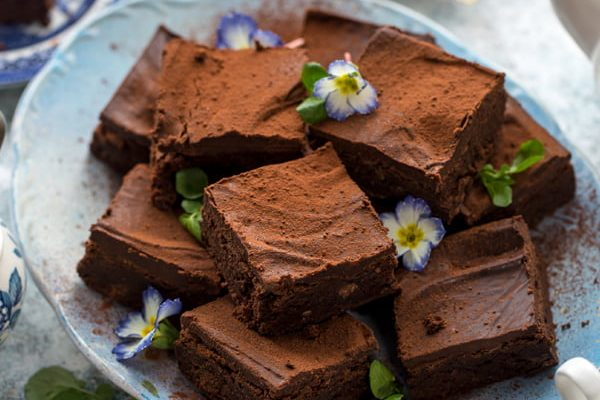 Chocolate, Orange & Watercress Brownies with Chocolate Ganache Topping from the Watercress Company