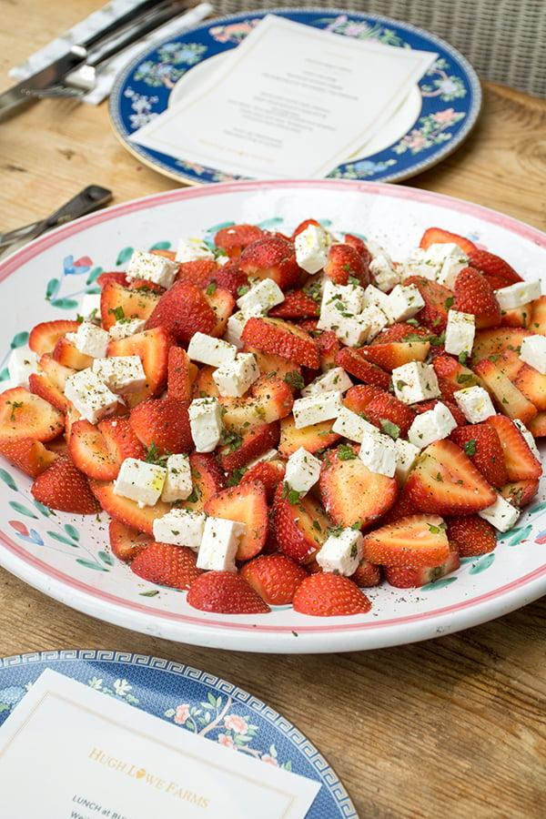 English Strawberry and Feta Salad
