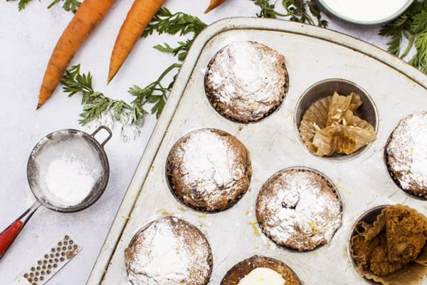 Vegan Carrot Muffins © The Flexitarian - Annabelle Randles
