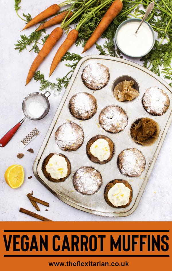Vegan Carrot Muffins © The Flexitarian - Annabelle Randles