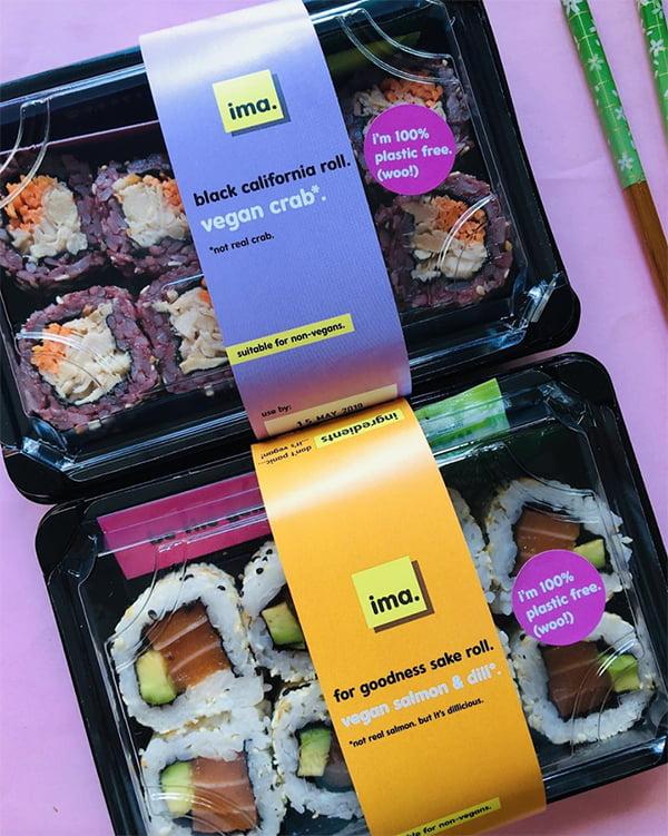 Ima vegan 'salmon' sushi