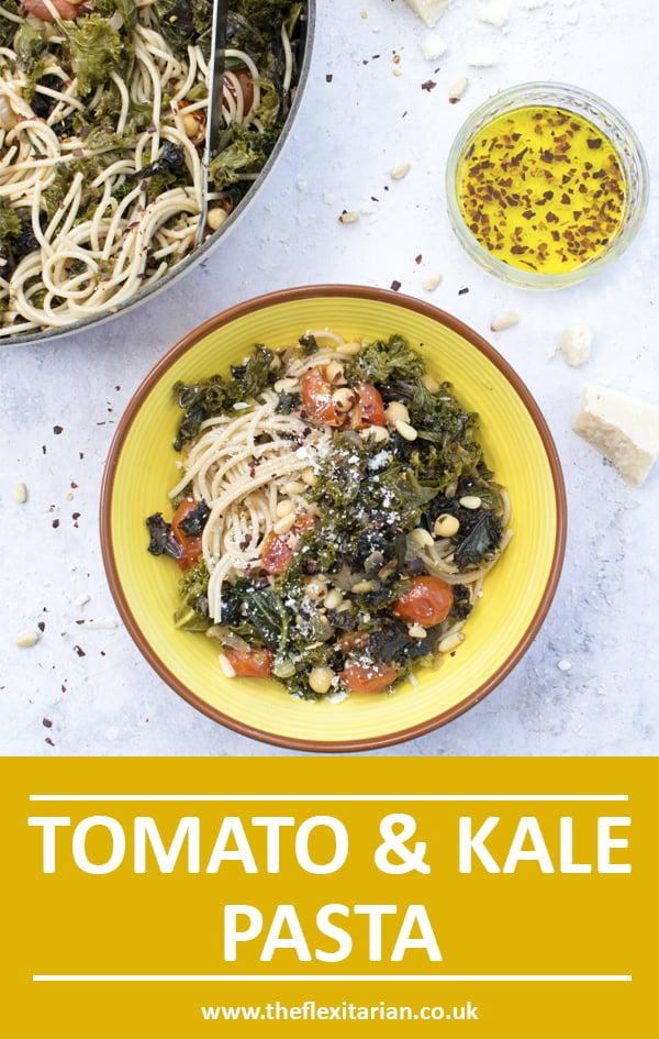 Tomato & Kale Pasta [vegetarian] by The Flexitarian © Annabelle Randles - Le Flexitarien