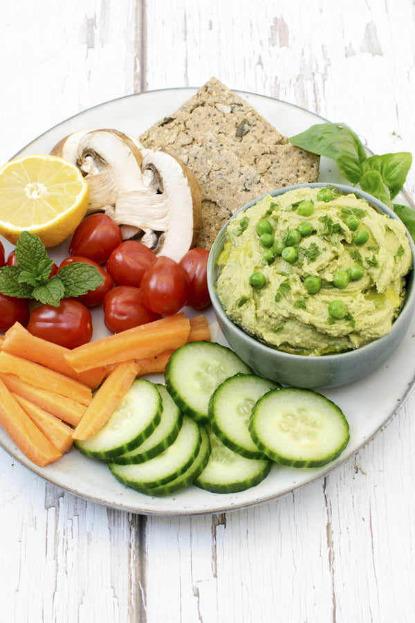 Minty Pea Hummus [vegan]